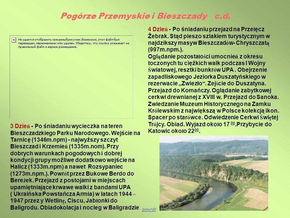 Pogórze Przemyskie i Bieszczady c.d.