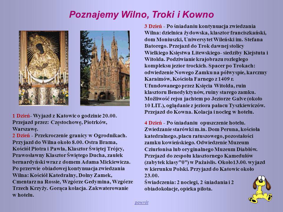 Poznajemy Wilno, Troki i Kowno