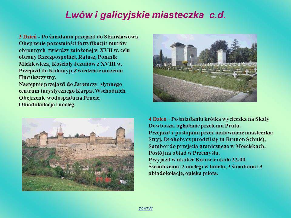 Lwów i galicyjskie miasteczka c.d.