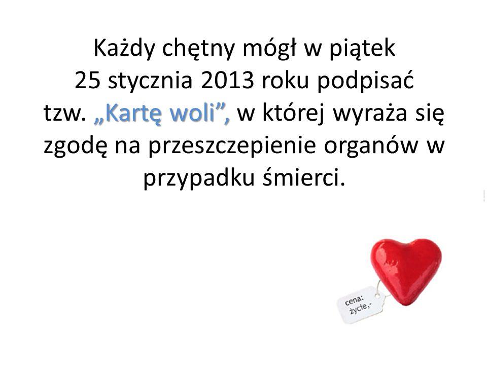 Każdy chętny mógł w piątek 25 stycznia 2013 roku podpisać tzw