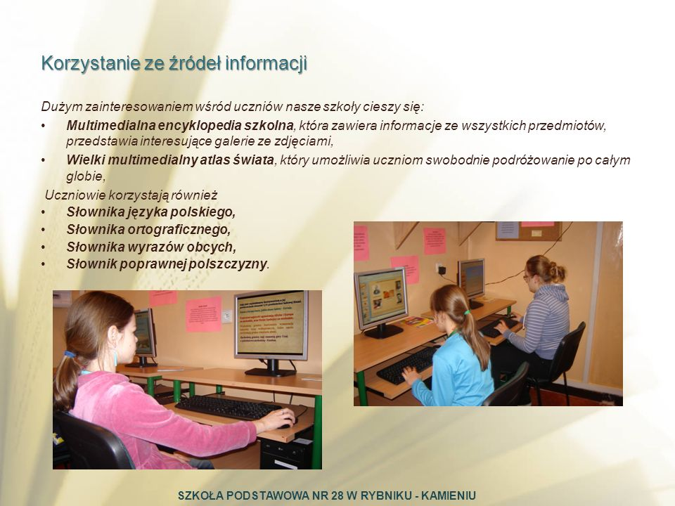 Korzystanie ze źródeł informacji
