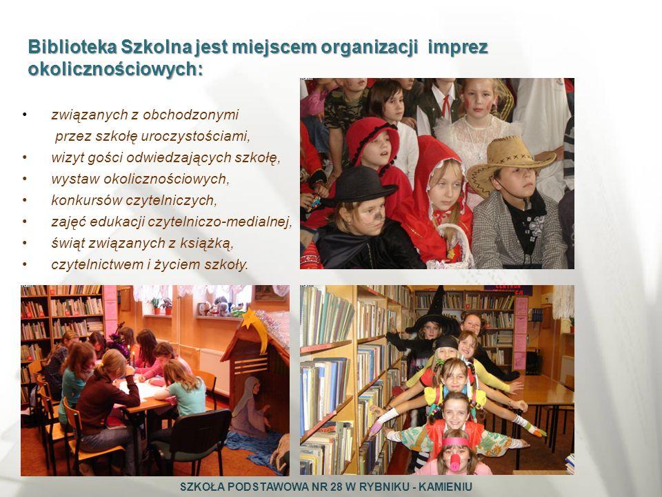 Biblioteka Szkolna jest miejscem organizacji imprez okolicznościowych: