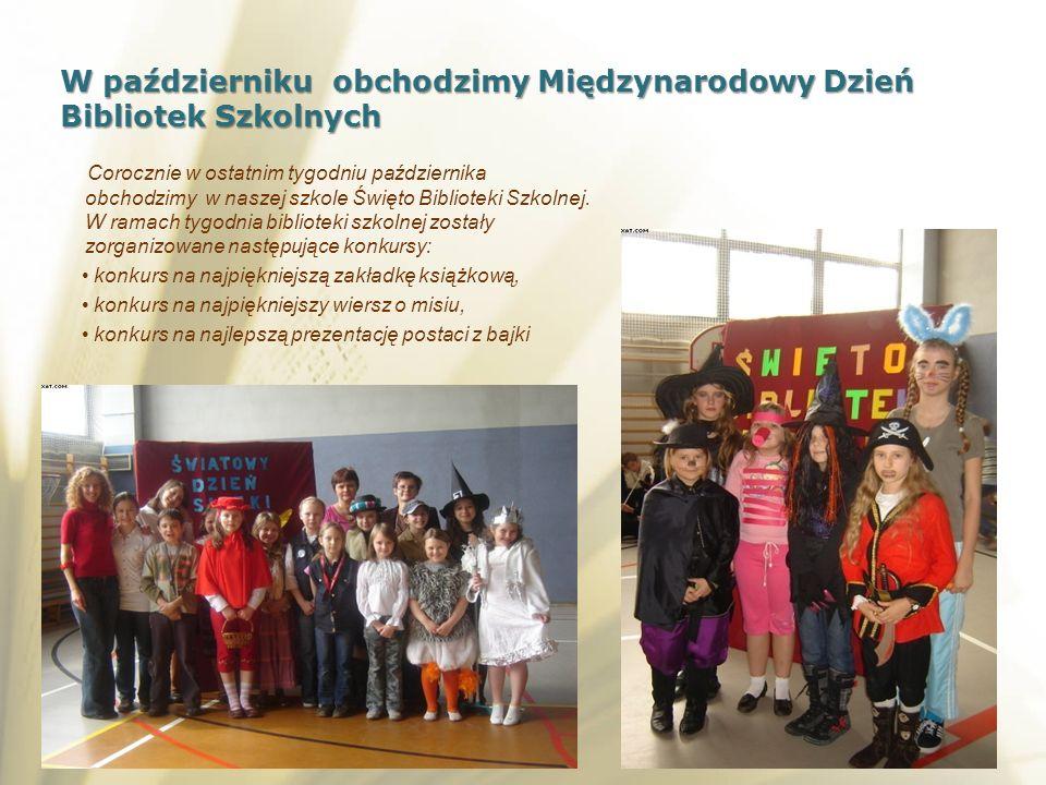 W październiku obchodzimy Międzynarodowy Dzień Bibliotek Szkolnych