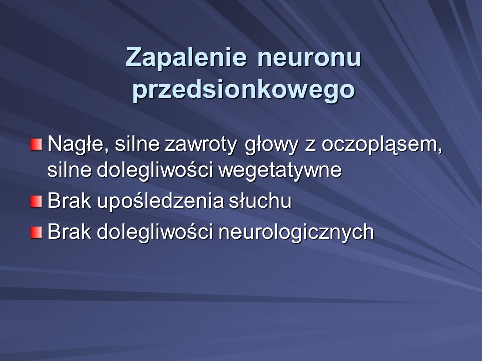 Zapalenie neuronu przedsionkowego