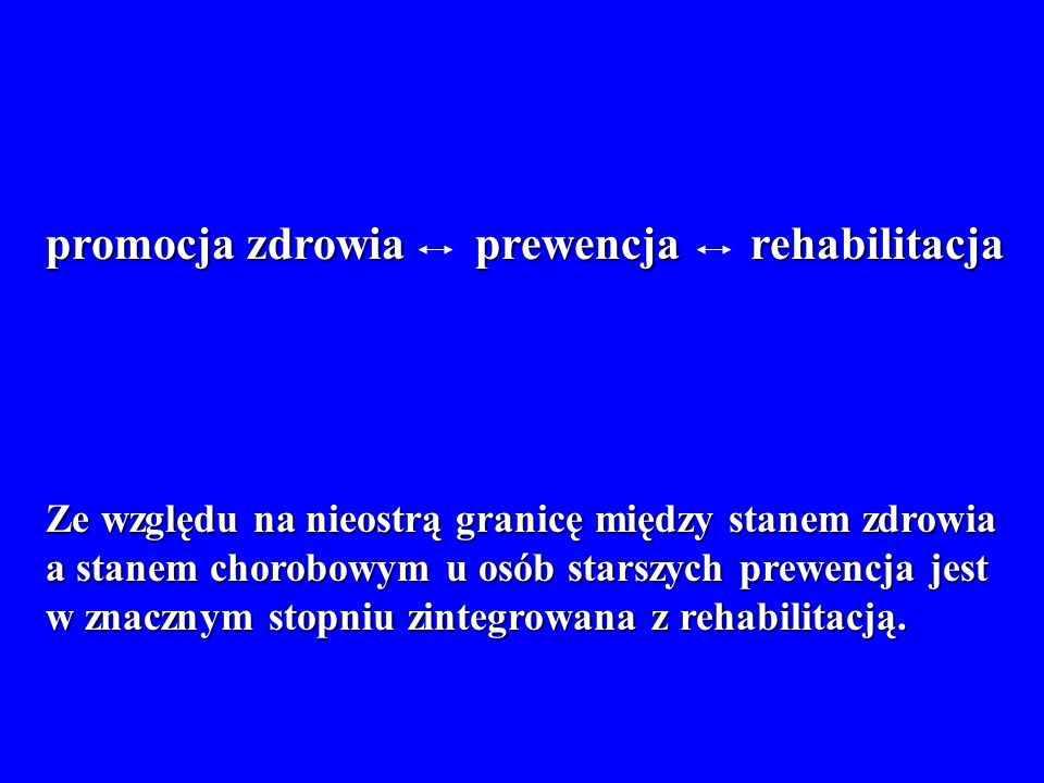 promocja zdrowia prewencja rehabilitacja
