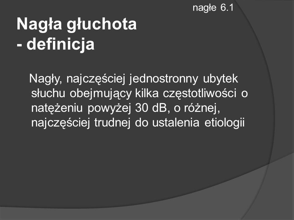 nagłe 6.1 Nagła głuchota - definicja