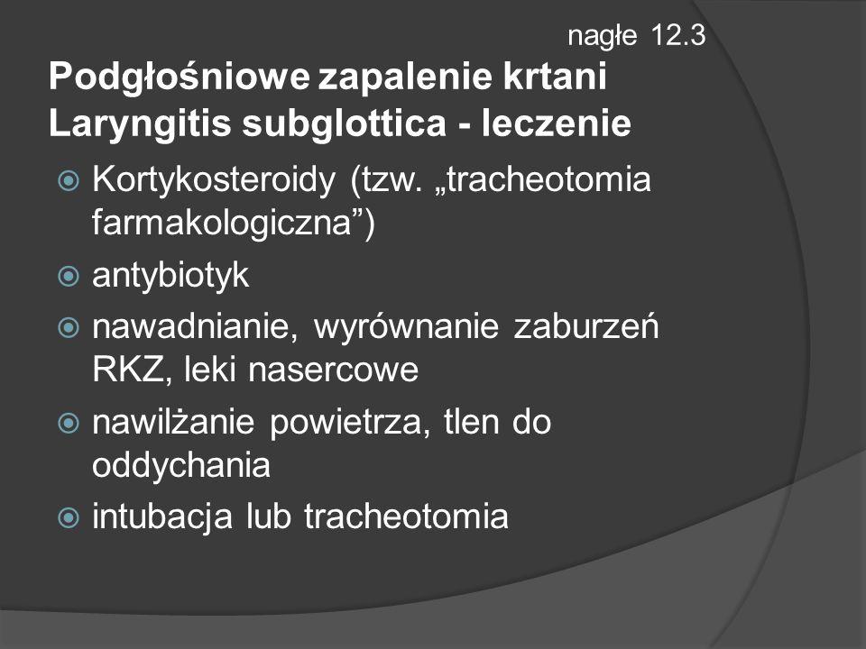 """Kortykosteroidy (tzw. """"tracheotomia farmakologiczna ) antybiotyk"""