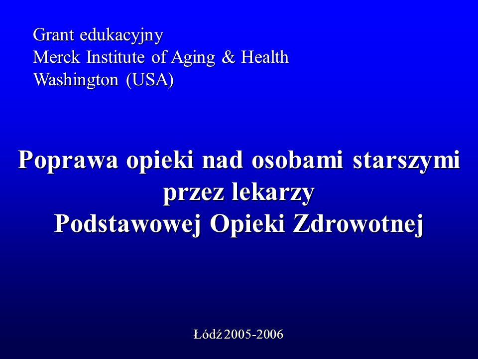 Poprawa opieki nad osobami starszymi przez lekarzy