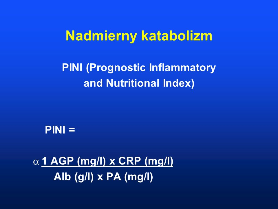 PINI (Prognostic Inflammatory and Nutritional Index)