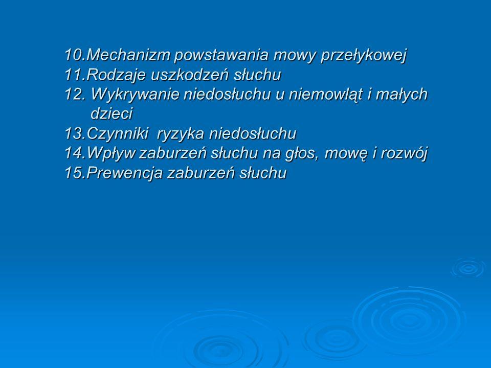 10. Mechanizm powstawania mowy przełykowej 11
