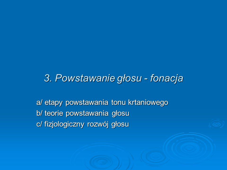 3. Powstawanie głosu - fonacja