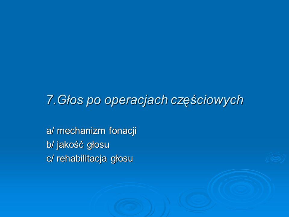 7.Głos po operacjach częściowych