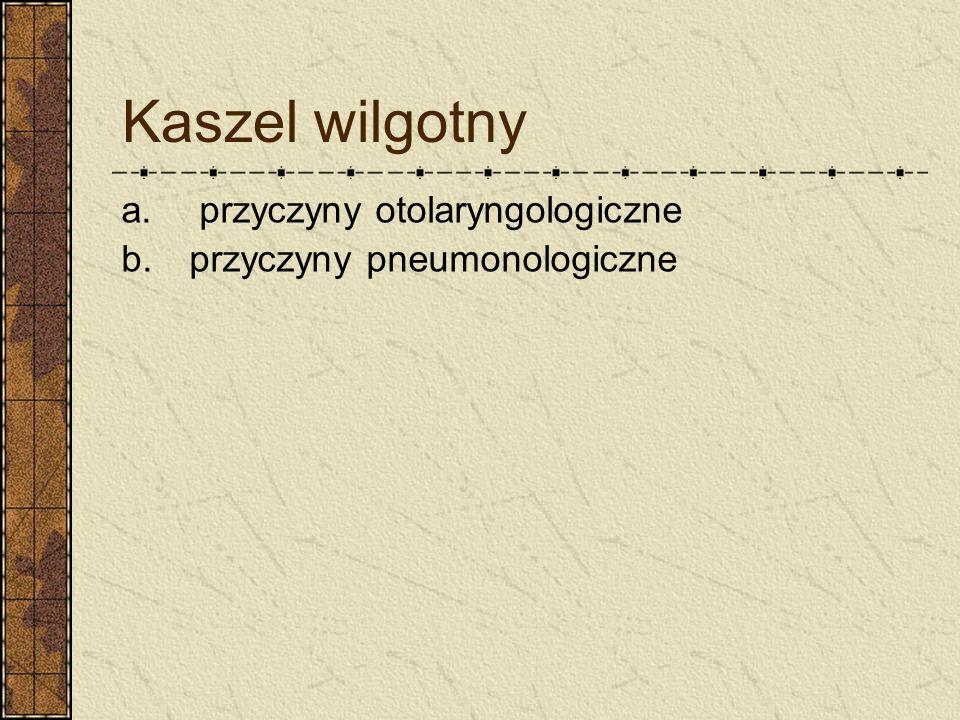 Kaszel wilgotny a. przyczyny otolaryngologiczne