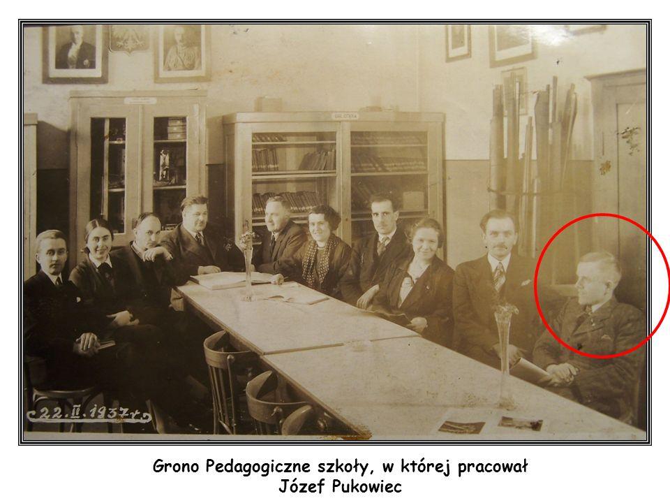 Grono Pedagogiczne szkoły, w której pracował Józef Pukowiec