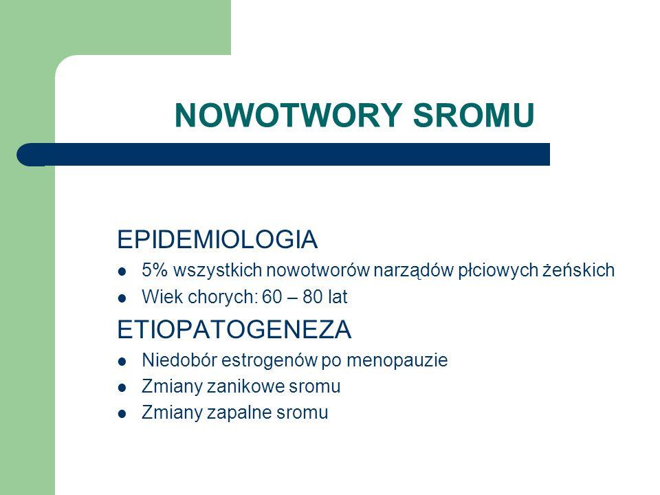 NOWOTWORY SROMU EPIDEMIOLOGIA ETIOPATOGENEZA