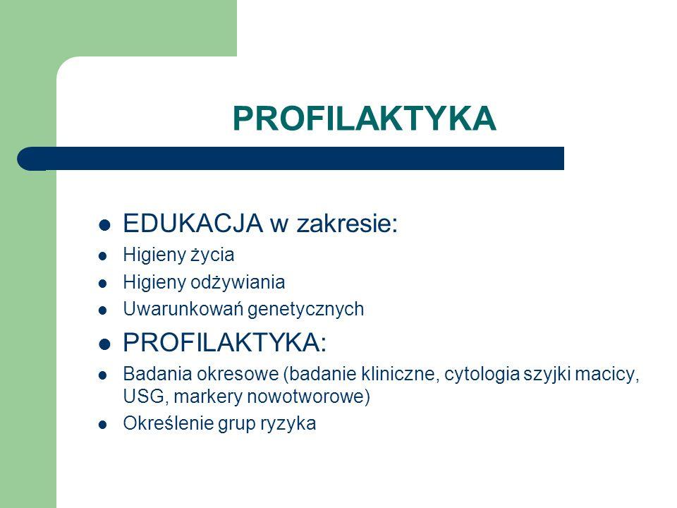 PROFILAKTYKA EDUKACJA w zakresie: PROFILAKTYKA: Higieny życia