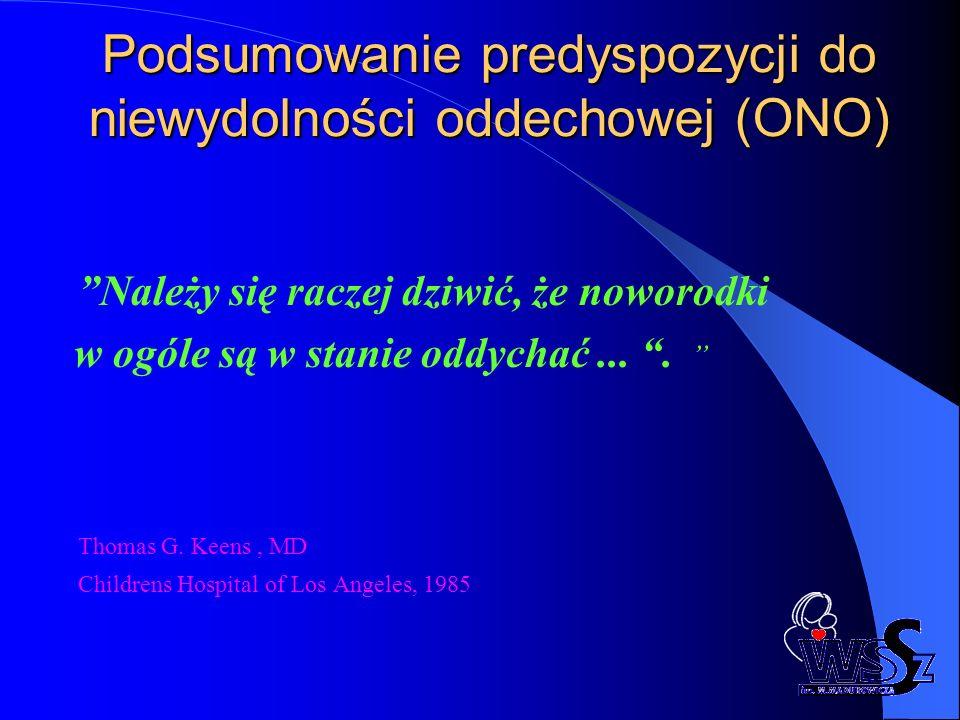Podsumowanie predyspozycji do niewydolności oddechowej (ONO)