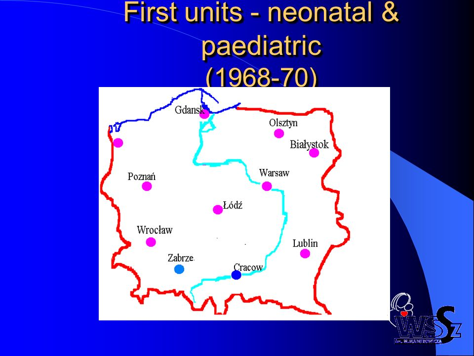 First units - neonatal & paediatric (1968-70)