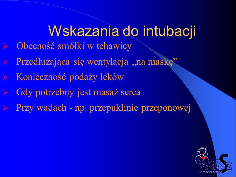 Wskazania do intubacji
