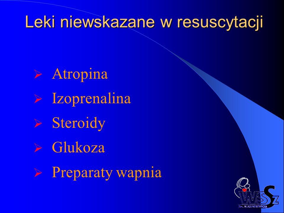 Leki niewskazane w resuscytacji