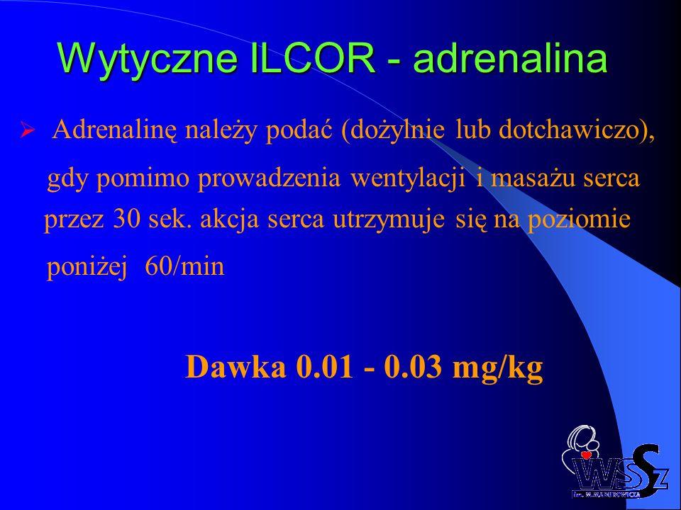 Wytyczne ILCOR - adrenalina