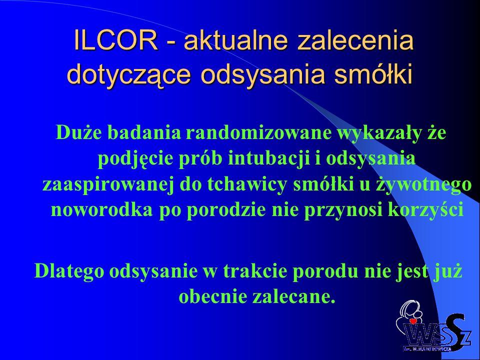 ILCOR - aktualne zalecenia dotyczące odsysania smółki