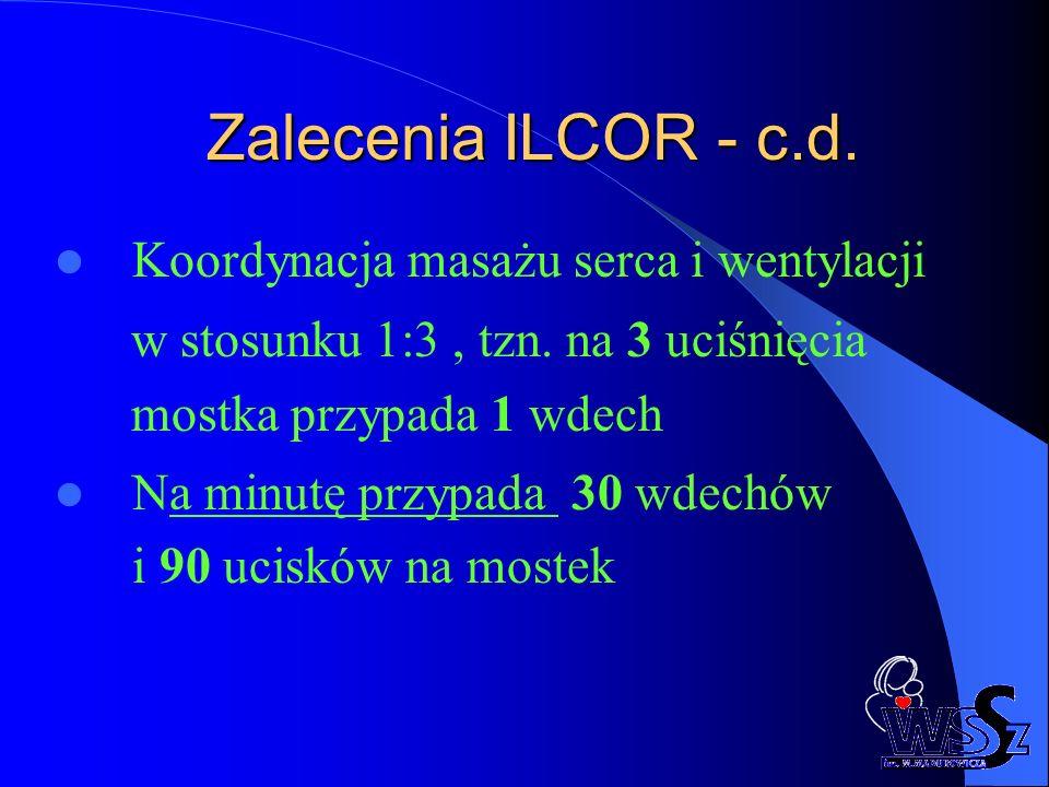 Zalecenia ILCOR - c.d. Koordynacja masażu serca i wentylacji