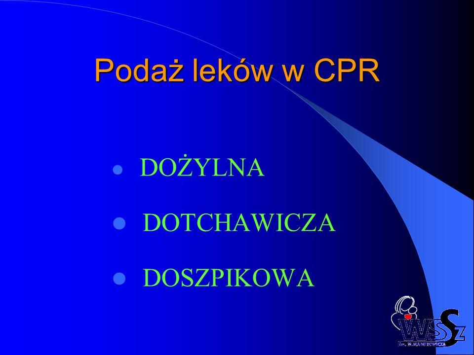Podaż leków w CPR DOŻYLNA DOTCHAWICZA DOSZPIKOWA