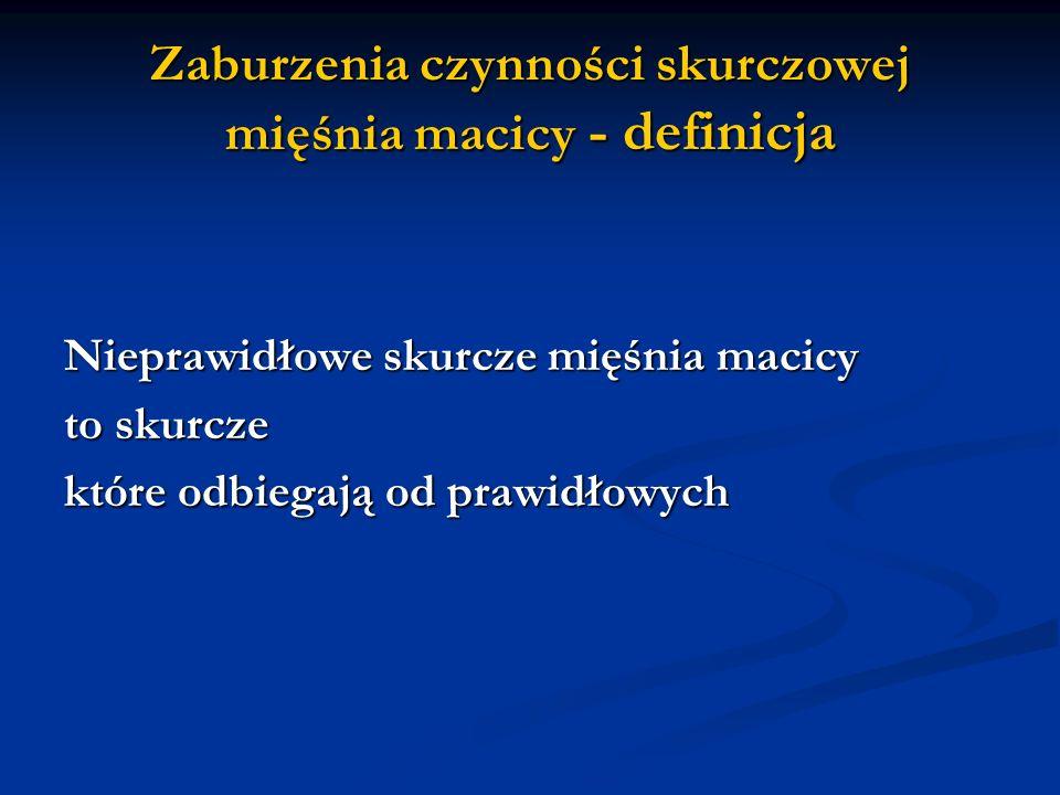 Zaburzenia czynności skurczowej mięśnia macicy - definicja