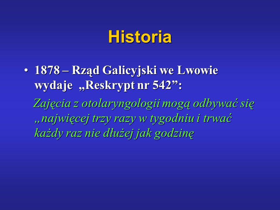 """Historia 1878 – Rząd Galicyjski we Lwowie wydaje """"Reskrypt nr 542 :"""