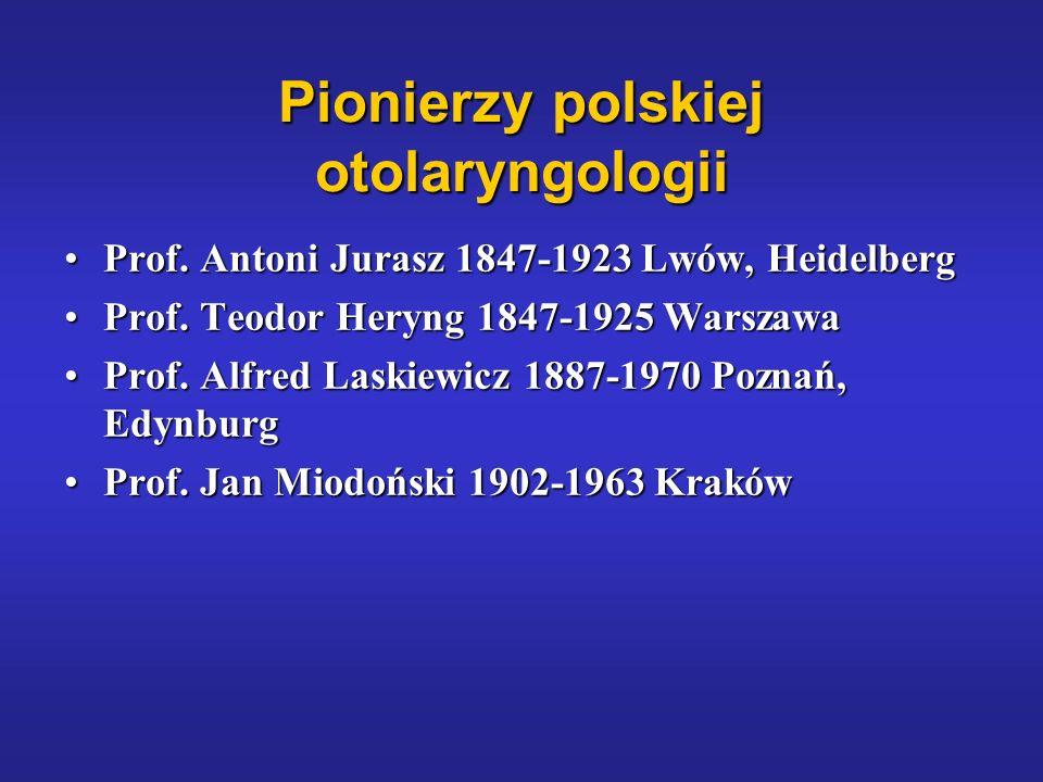 Pionierzy polskiej otolaryngologii