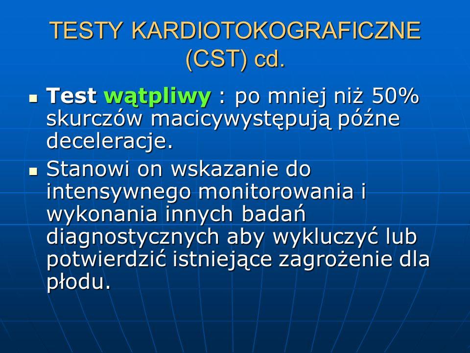 TESTY KARDIOTOKOGRAFICZNE (CST) cd.