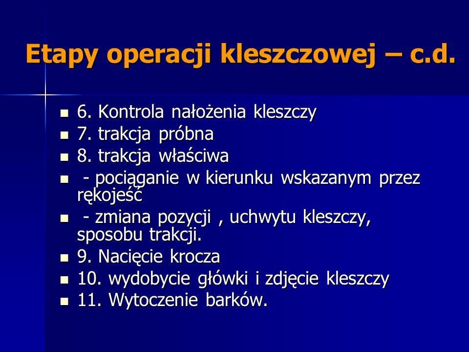 Etapy operacji kleszczowej – c.d.