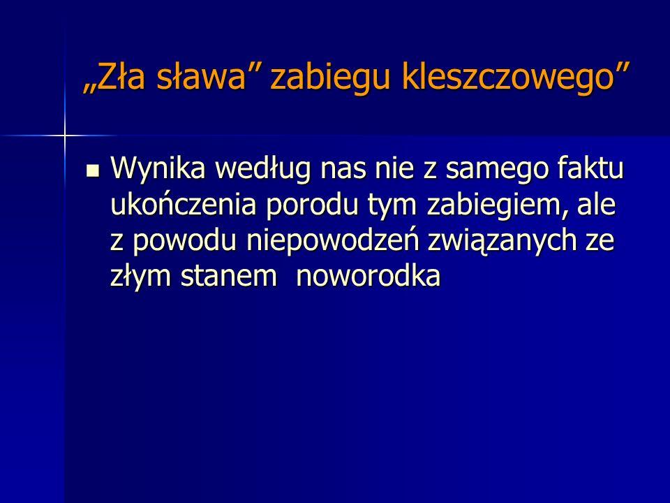 """""""Zła sława zabiegu kleszczowego"""