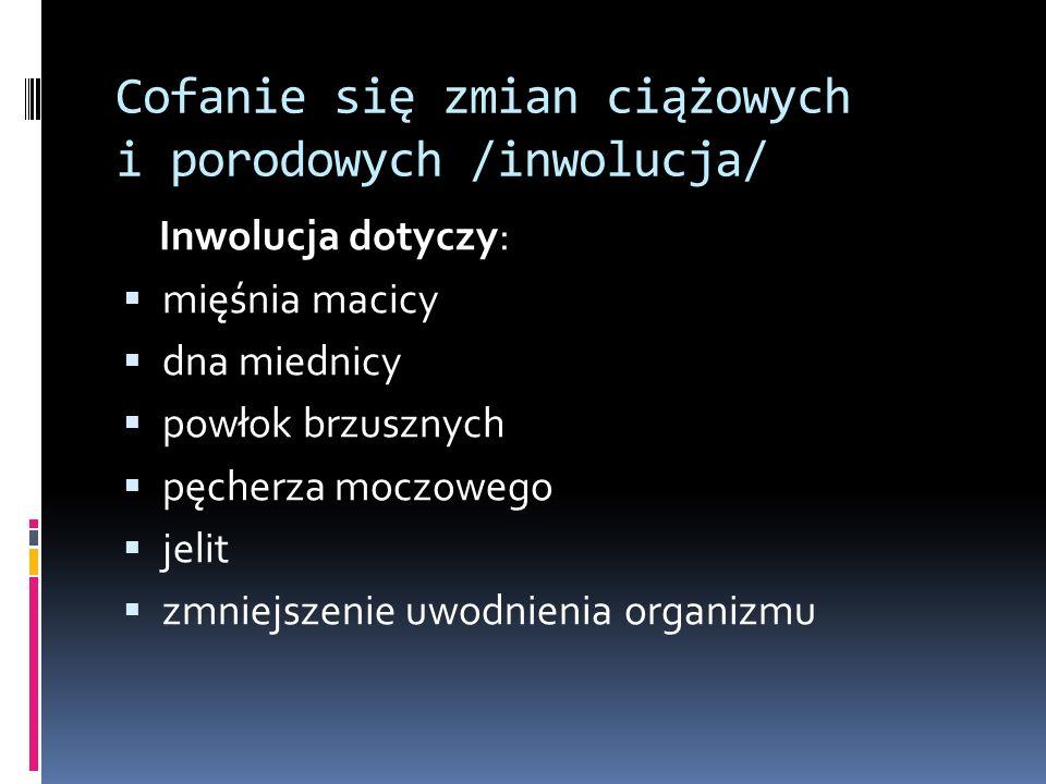 Cofanie się zmian ciążowych i porodowych /inwolucja/