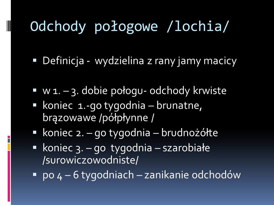 Odchody połogowe /lochia/
