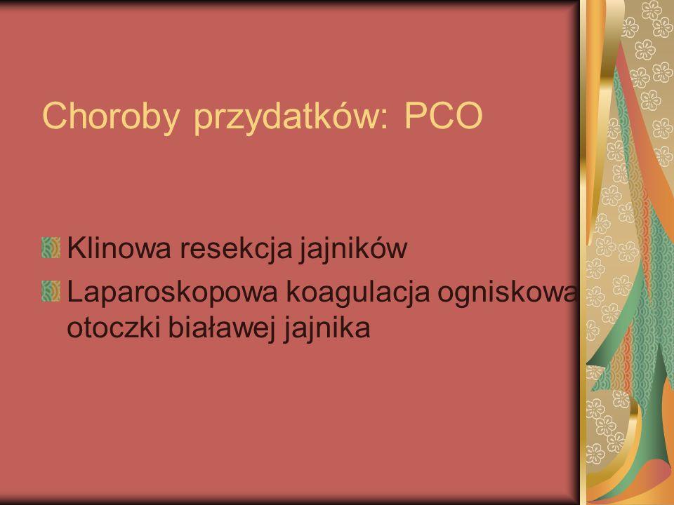 Choroby przydatków: PCO