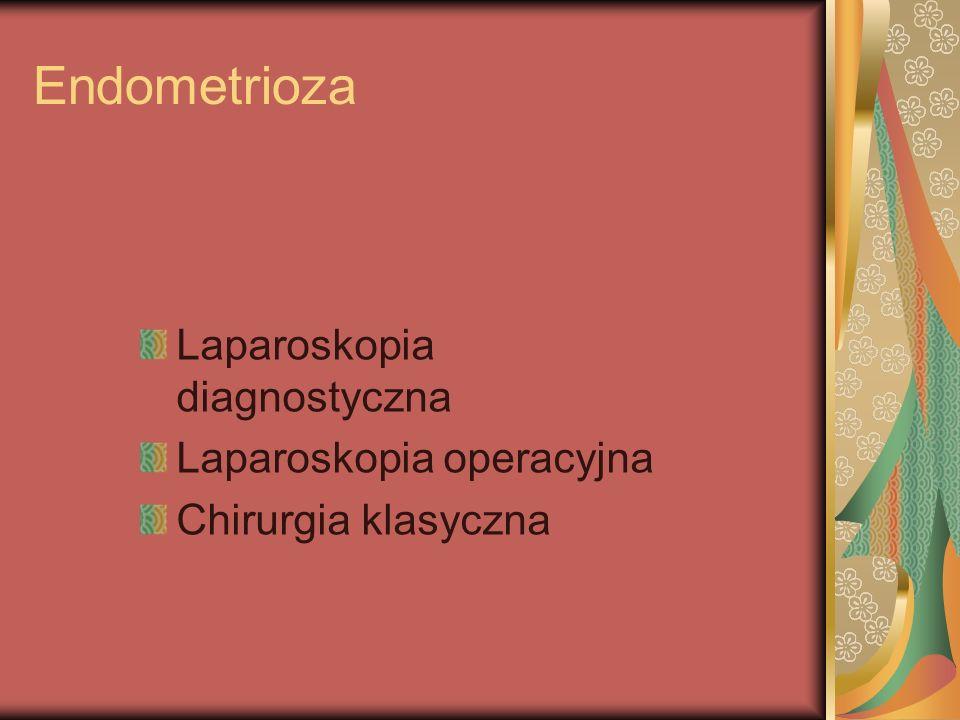 Endometrioza Laparoskopia diagnostyczna Laparoskopia operacyjna