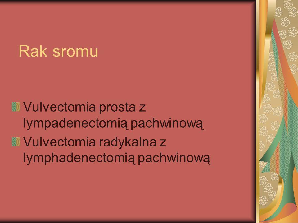 Rak sromu Vulvectomia prosta z lympadenectomią pachwinową