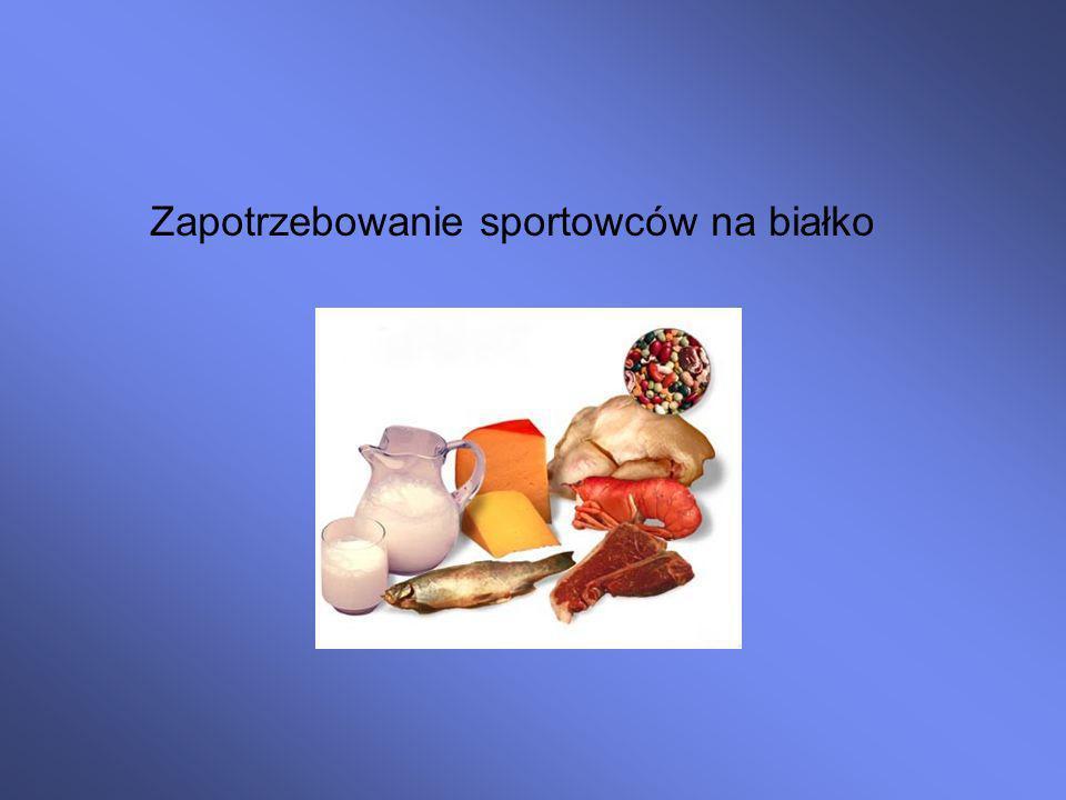 Zapotrzebowanie sportowców na białko