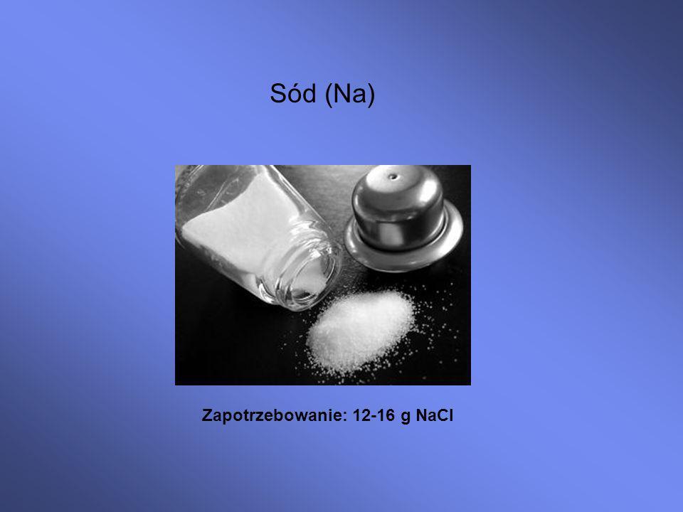 Zapotrzebowanie: 12-16 g NaCl