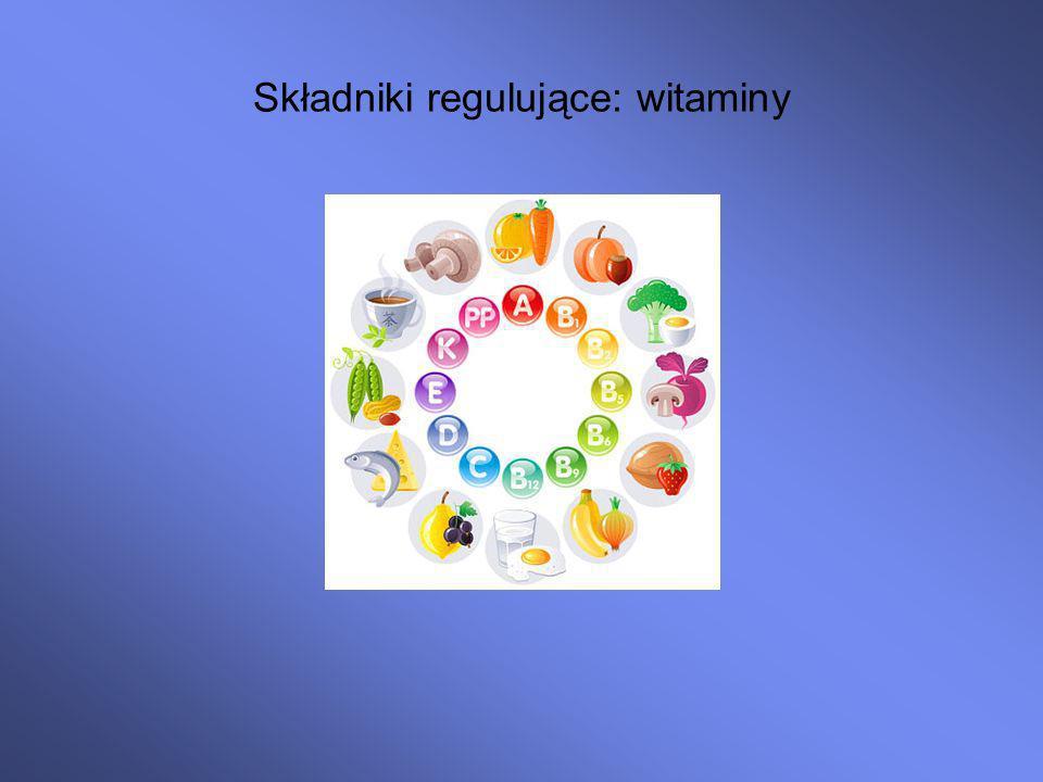 Składniki regulujące: witaminy