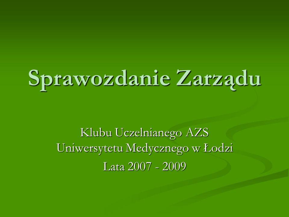 Klubu Uczelnianego AZS Uniwersytetu Medycznego w Łodzi