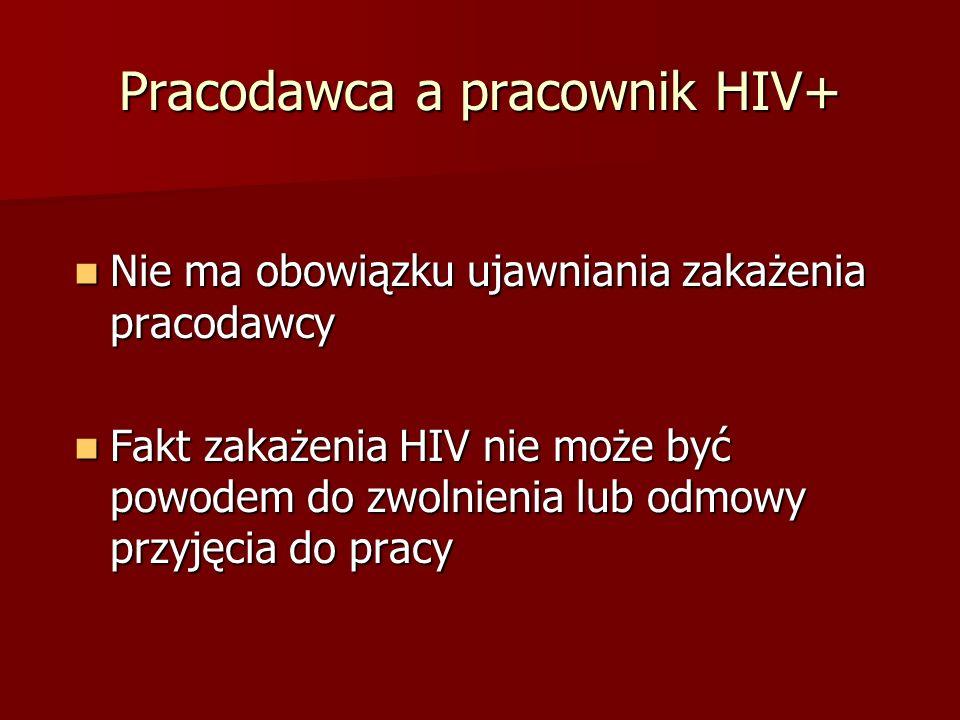 Pracodawca a pracownik HIV+