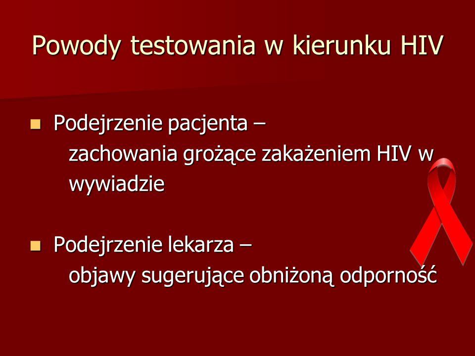 Powody testowania w kierunku HIV
