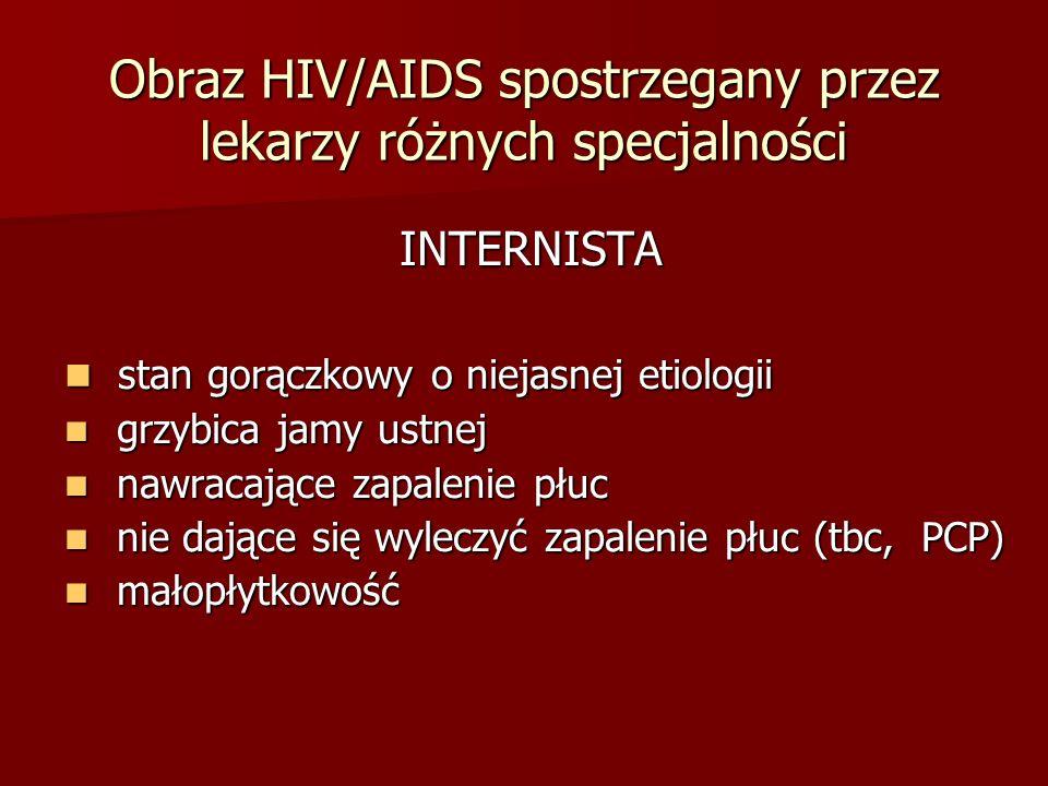 Obraz HIV/AIDS spostrzegany przez lekarzy różnych specjalności