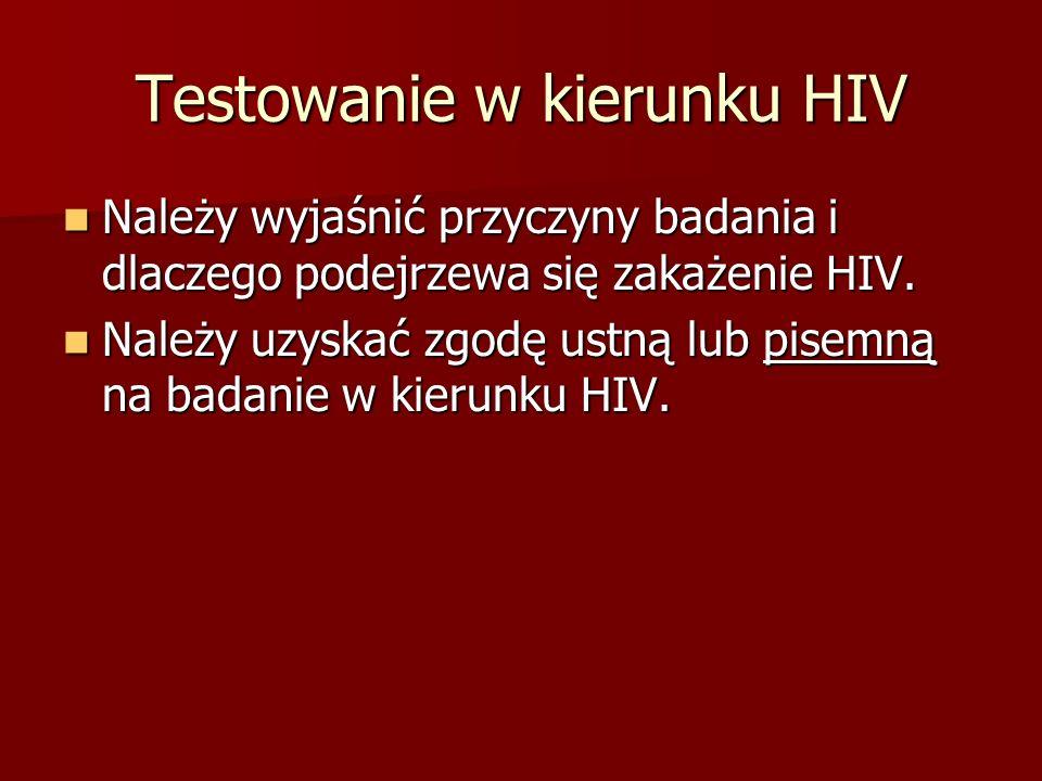 Testowanie w kierunku HIV
