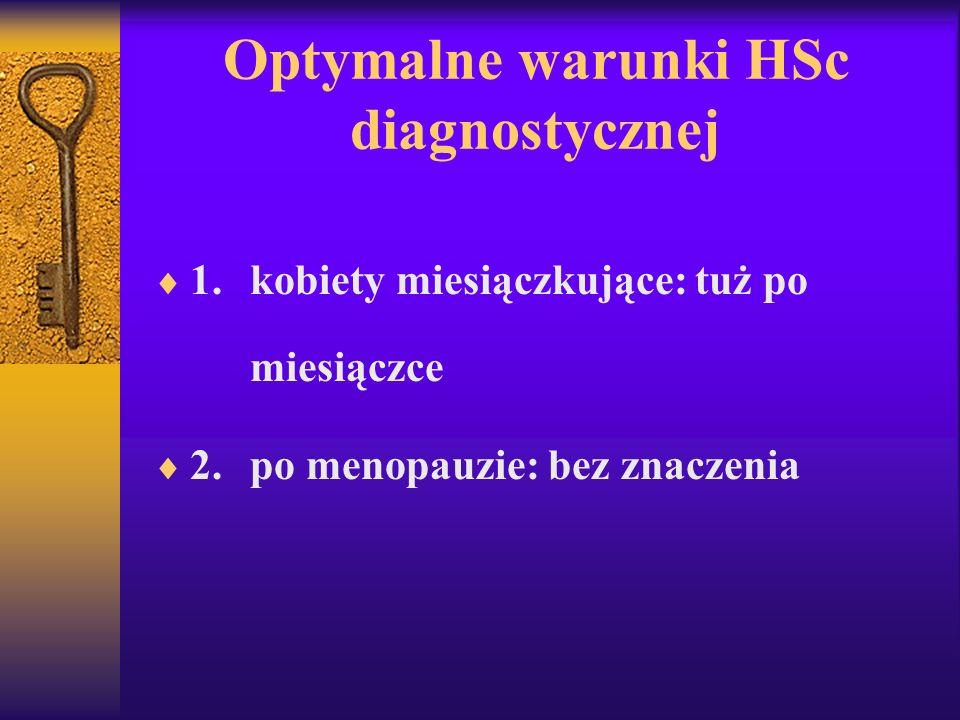 Optymalne warunki HSc diagnostycznej