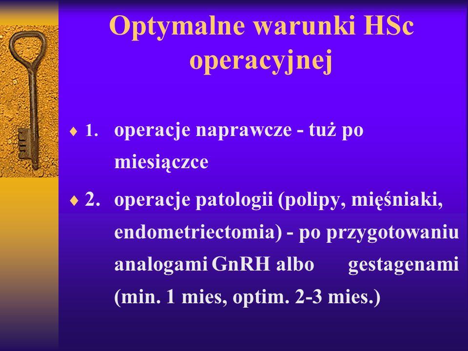 Optymalne warunki HSc operacyjnej
