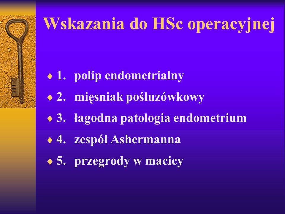 Wskazania do HSc operacyjnej
